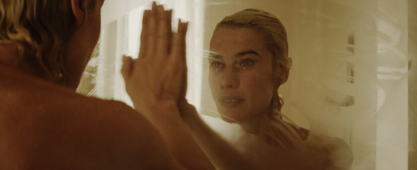 "Delfine Bafort portrays a woman suffering from amnesia in the visually pleasing but languidly paced ""You Go to My Head."""
