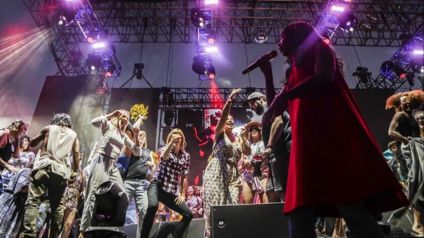 Santigold performs Saturday at Music Tastes Good, a low-key and diverse Long Beach indie music festival.