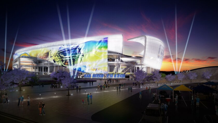 Populous released new renderings of design for a proposed Mission Valley Chargers stadium. Credit: Populous