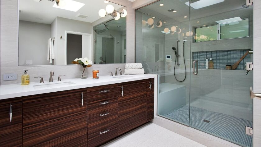 Showers are growing larger and more wellness-focused with features like steam. Photo courtesy of Jac