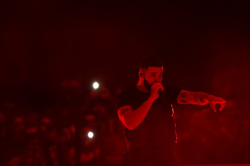 Drake performs Friday night at Staples Center.