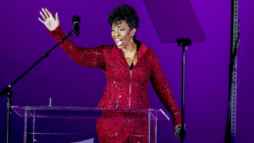 LOS ANGELES, CA --AUGUST 31, 2016--Gladys Knight performed a medley of her songs from the 1974 film,