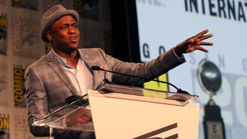 Wayne Brady speaks at the 29th annual Will Eisner Comic Industry Awards at the Hilton San Diego Bayfront Hotel during Comic-Con International 2017 on July 21, 2017.