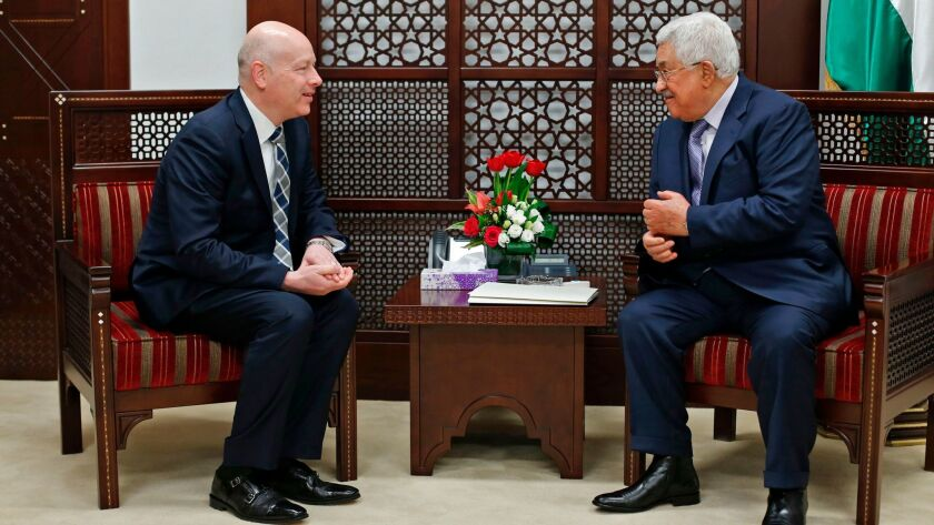 Mahmoud Abbas and Jason Greenblatt