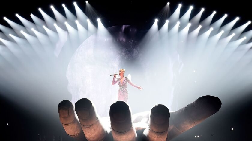 Katy Perry performs onstage during her Witness: The Tour opener at Bell Centre in Montreal, Canada on Sept. 19, 2017.