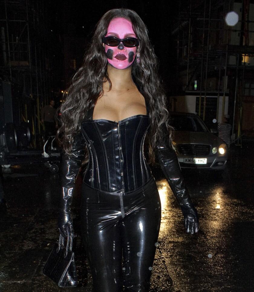 Rihanna dressed for Halloween, Oct. 31, 2018.