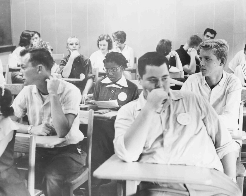 In 1957, Josephine Boyd was the first African American to attend Greensboro (N.C.) Senior High School