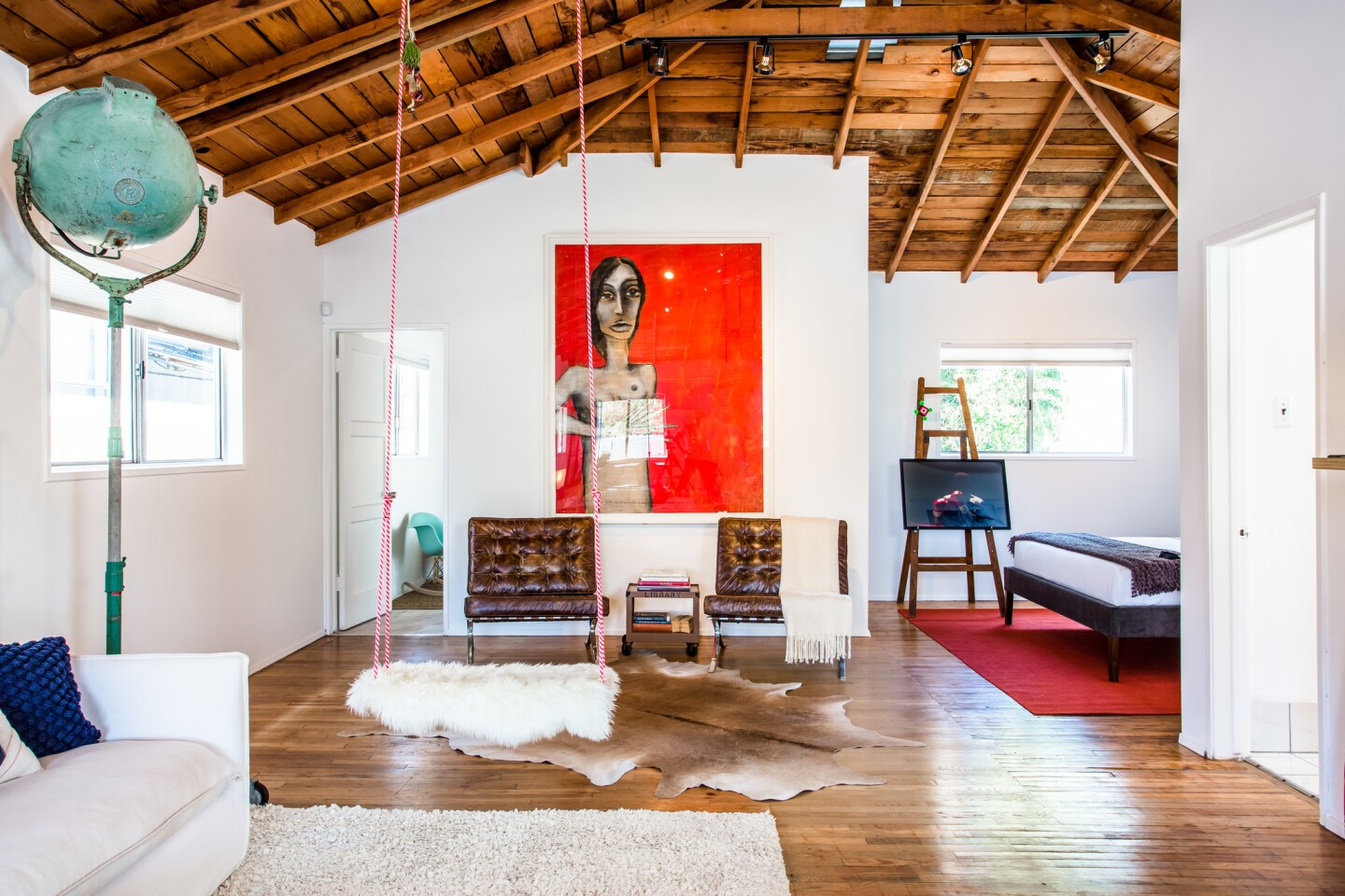 Home of the Day: Swing from the rafters in this artsy Venice Beach bungalow