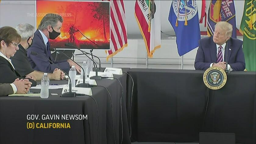 California wildfire briefing