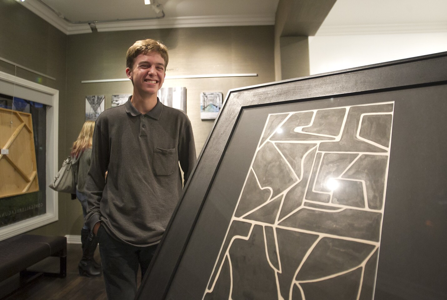 LB Art Students Learn Art Business at Cove Gallery