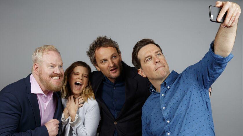 TORONTO, ON, CA--SUNDAY, SEPTEMBER 10, 2017 - Comedian Jim Gaffigan, actress Kate Mara, actor Jason