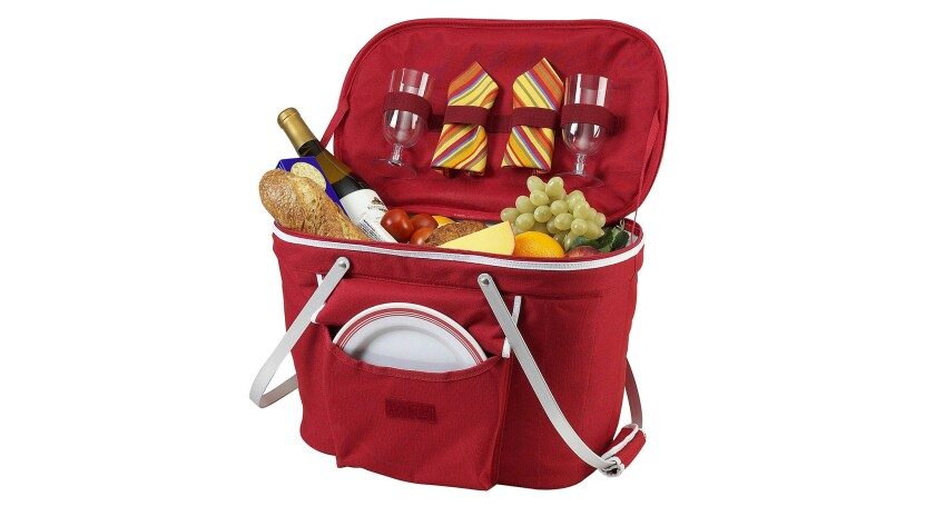 Picnic at Ascot, a leader in expansive upscale wicker picnic baskets equipped with fancy plates, win