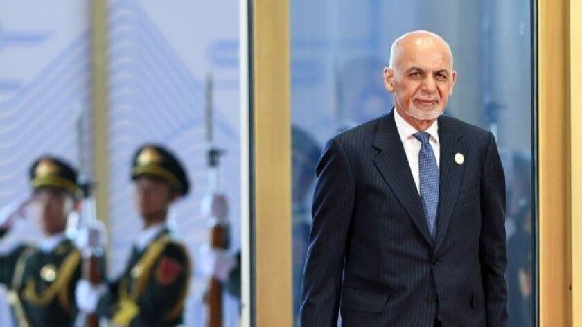 At start of Muslim holiday, Afghan president calls for cease-fire with Taliban