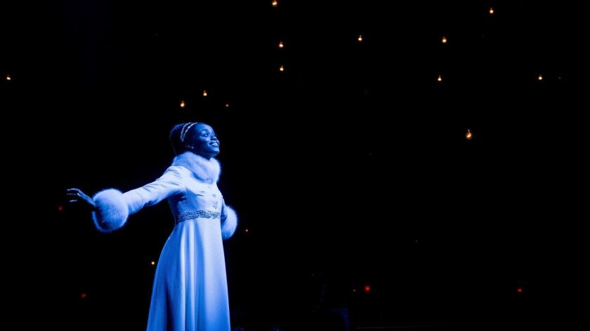 """This image released by Matt Ross Public Relations shows Denee Benton during a performance of """"Natash"""