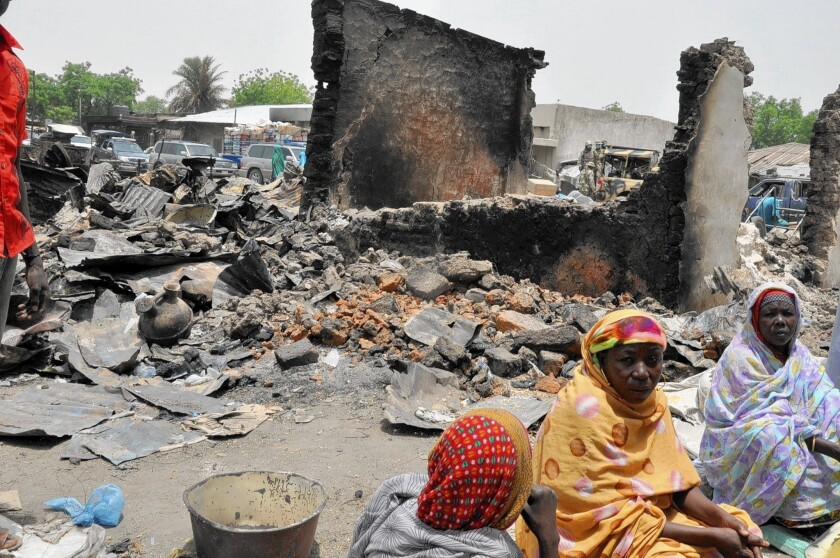 Nigeria market after attack