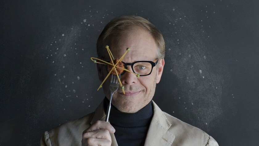 """Alton Brown will come to Los Angeles for a show called """"Eat Your Science"""" at the Pantages Theatre on March 17 and 18."""