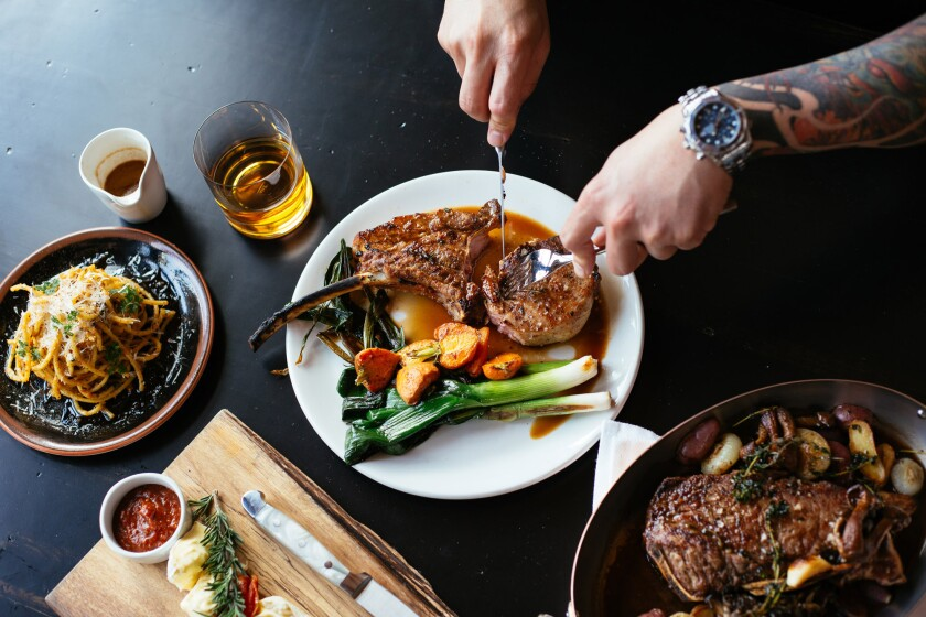 Dishes from the new Steak and Whisky in Hermosa Beach.
