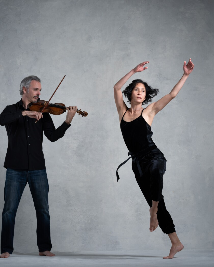 "Violinist Colin Jacobsen and dancer/choreographer Maile Okamura are part of ""Dances to Strings"" online Saturday, April 10."