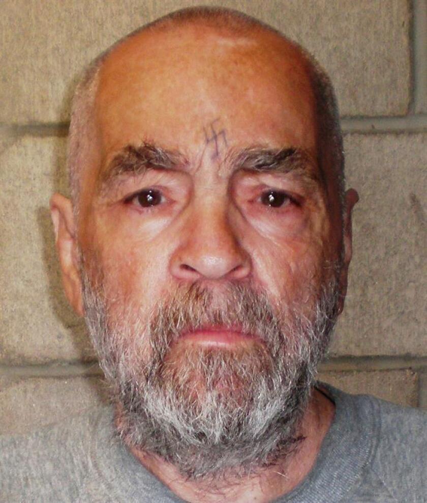 Foto de archivo facilitada por el Departamento de Correcciones y Rehabilitación de California que muestra al criminal estadounidense Charles Manson, en California (Estados Unidos)EFE/ Departamento De Correcciones Y Rehabilitación De California SOLO USO EDITORIAL/PROHIBIDA SU VENTA