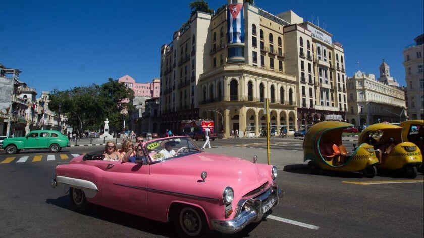 American cars on the streets of Havana, Cuba - 26 Apr 2019