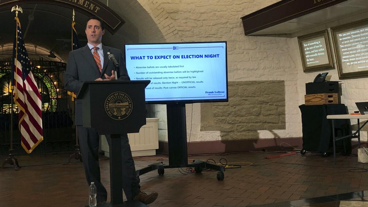 Ohio judge derides restriction of 1 ballot drop box per county