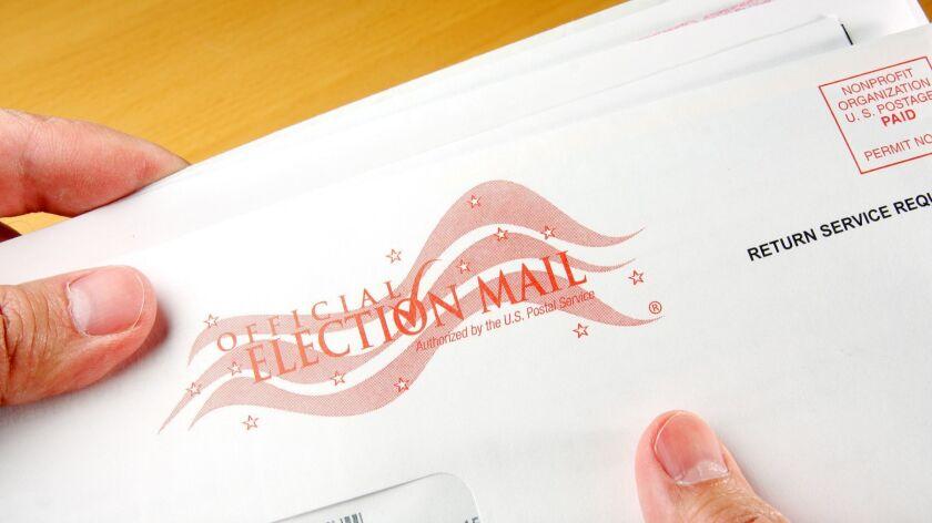 Voter receiving ballot through mail