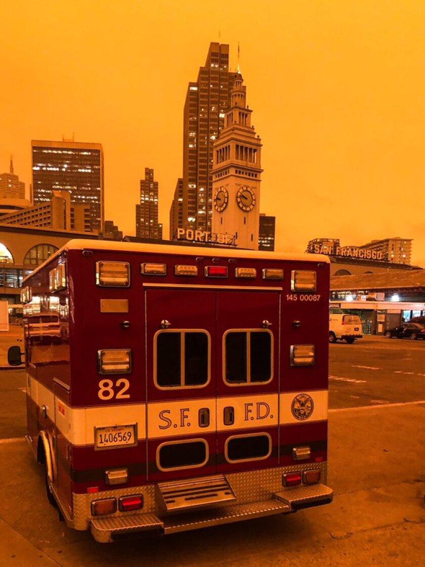 Foto del Departamento de Bomberos de San Francisco.