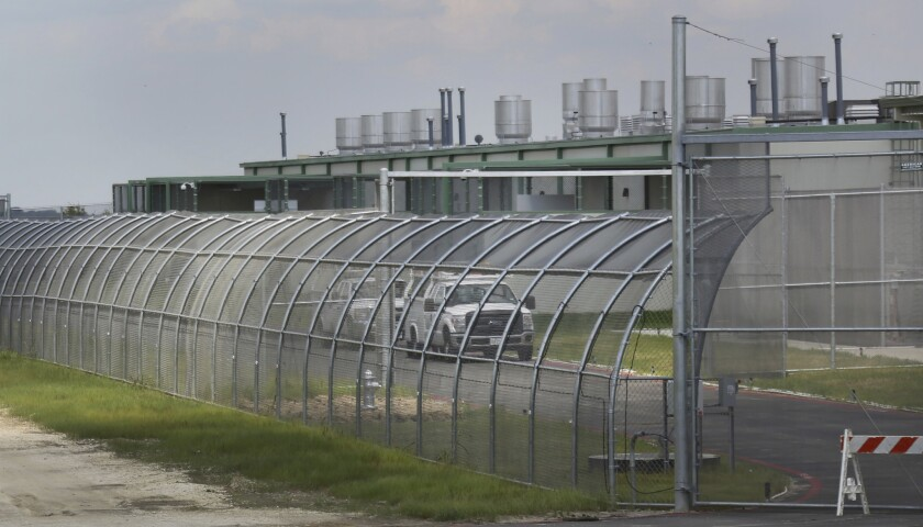A privately-run Texas immigration detention center.