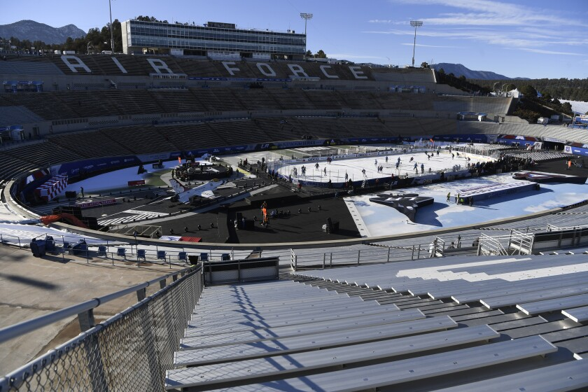 The Kings will play the Colorado Avalanche in Falcon Stadium at the U.S. Air Force Academy in Colorado on Saturday.