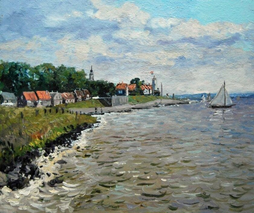Fifteen paintings of the Netherlands will be featured alongside several other paintings of Europe at artist John Modesitt's new exhibit.
