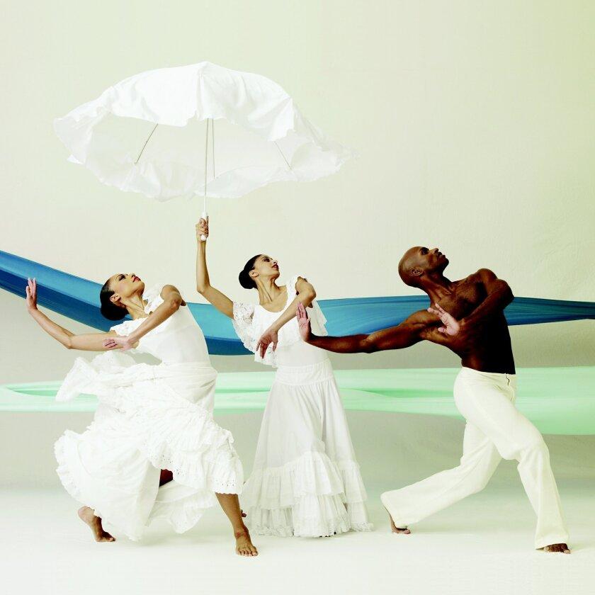 "Alvin Ailey American Dance Theater performers Linda Celeste, Alicia Graf Mack and Glenn Allen Sims perform ""Revelations."" Andrew Eccles"
