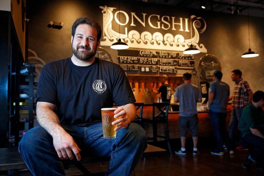 Longship Brewery brewer Dan Jachimowicz in the tasting room.