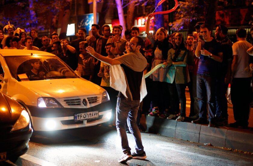 Iranians celebrate nuclear deal