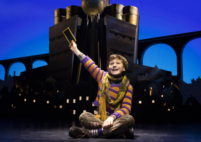"""Henry Boshart in the touring production of """"Charlie and the Chocolate Factory."""""""