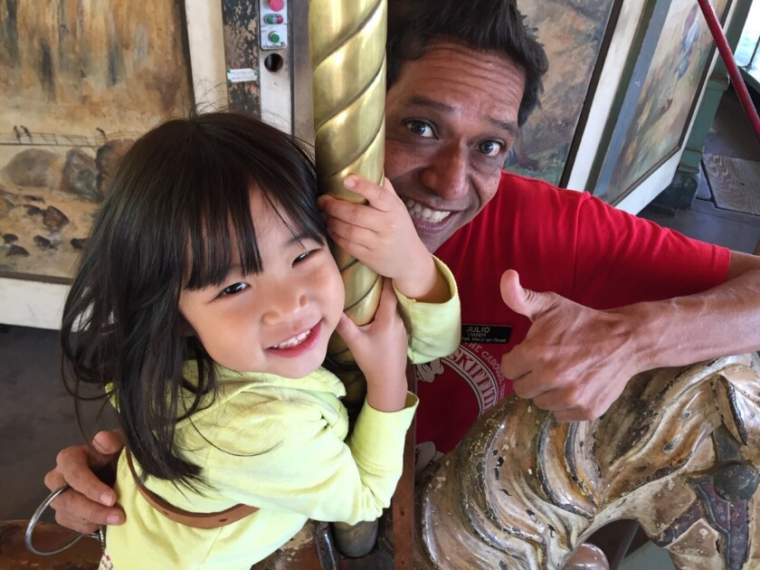 Julio Gosdinski, a native of Peru and co-owner of the Griffith Park carousel has died. He was 49.