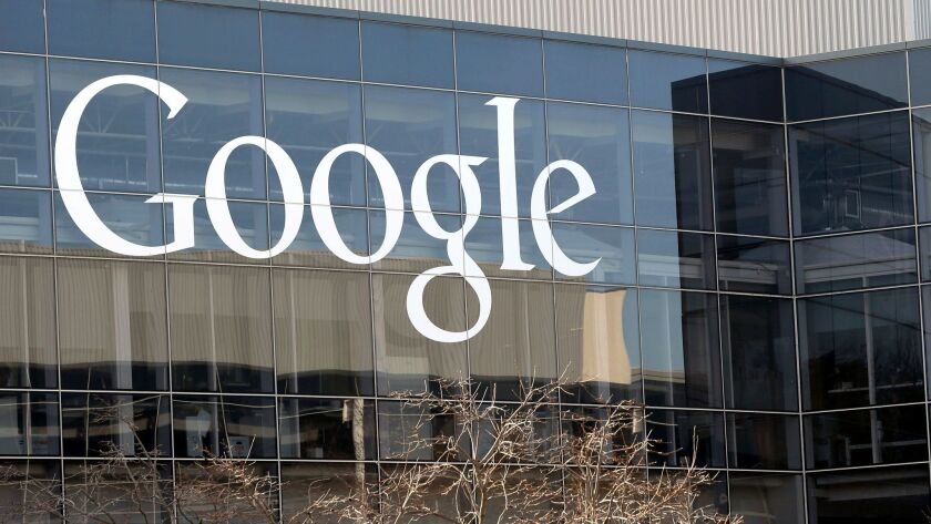 FILE - This Thursday, Jan. 3, 2013, file photo shows Google's headquarters in Mountain View, Calif.