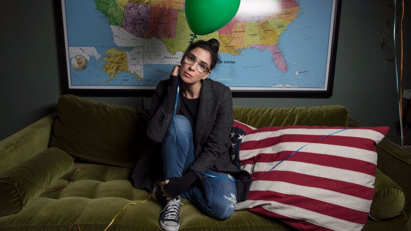 LOS ANGELES, CA, THURSDAY, NOVEMBER 30, 2017 - Comedian, author, actress Sarah Silverman has finishe