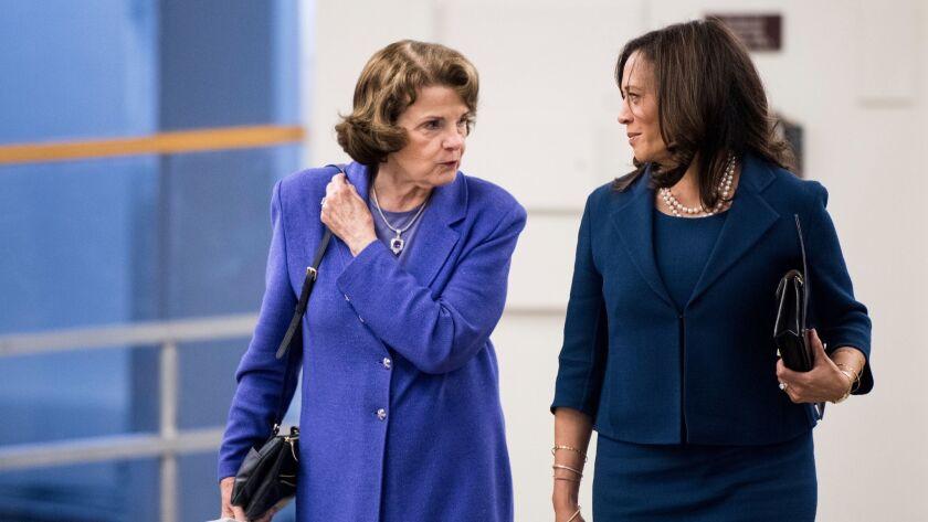 Sen. Dianne Feinstein and Sen. Kamala Harris