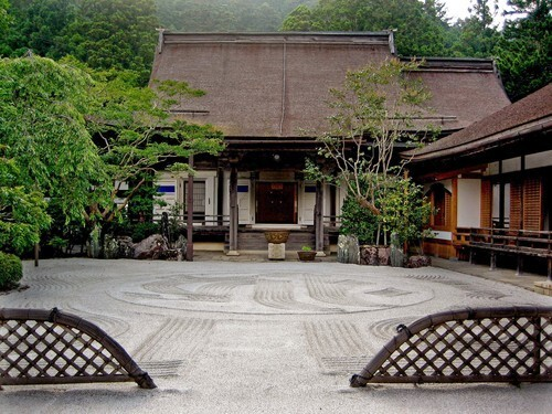 Rengejoin temple atop Mt. Koya in Japan