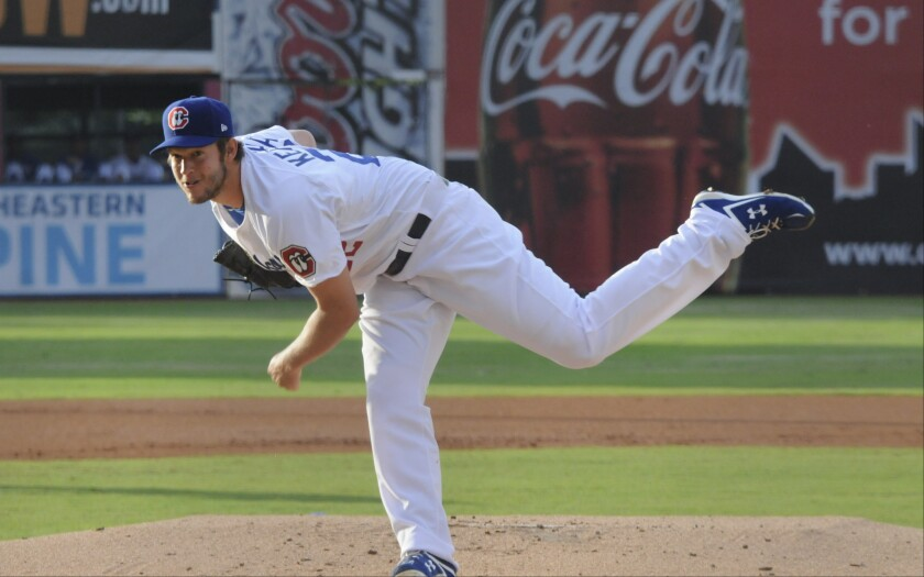 Clayton Kershaw starts for the double-A Chattanooga Lookouts in a rehab stint on Wednesday. If he has no pain after that outing and a scheduled bullpen throwing session this weekend, he will rejoin the Dodgers next week.