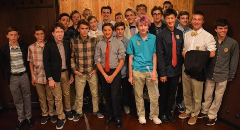 National League of Young Men, 9th Grade/Class of 2018 — FRONT ROW: Mitchell Morrison, Ben Albence, Nathan Miller, Elliot Austin, Cole Browning,Zach Albence, Teddy Dykstra, Hudson Liu, Mason Matalon and Liam Brinton. — BACK ROW: Cole Wolf, Dan Grushkevich, Tanner Ruane, Tyler Shapiro, Tyler Roberts,