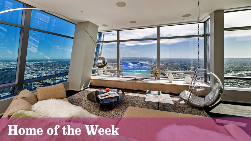 A penthouse atop the Ritz-Carlton Residences at L.A. Live in downtown L.A. is for sale at $15 million.