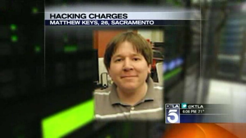 Matthew Keys is accused of conspiring with the hacking group Anonymous.