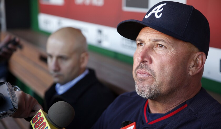 Fredi Gonzalez was fired by the Atlanta Braves in May, the Miami Marlins hired him as the third base coach on Tuesday.