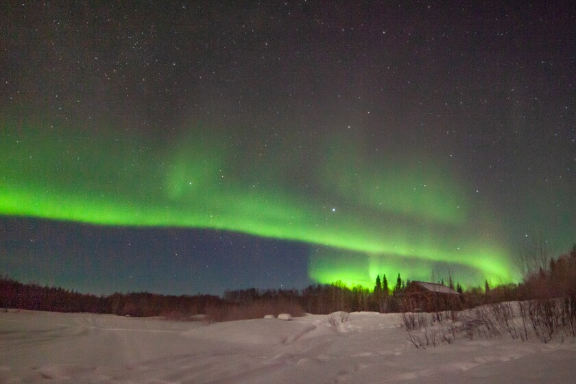 """The Northern Lights hold the story of """"the spirits of the departed called the Happy Dancers."""""""