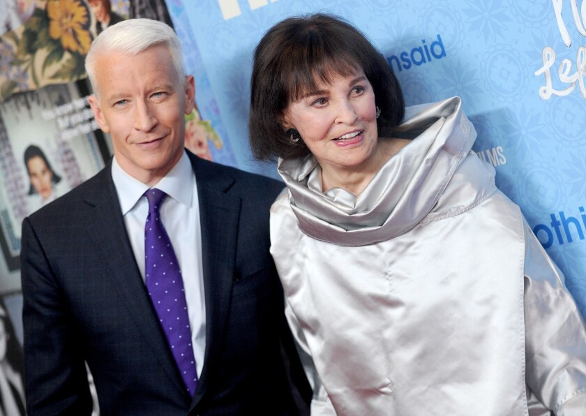 Gloria Vanderbilt, heiress and socialite, dies at 95