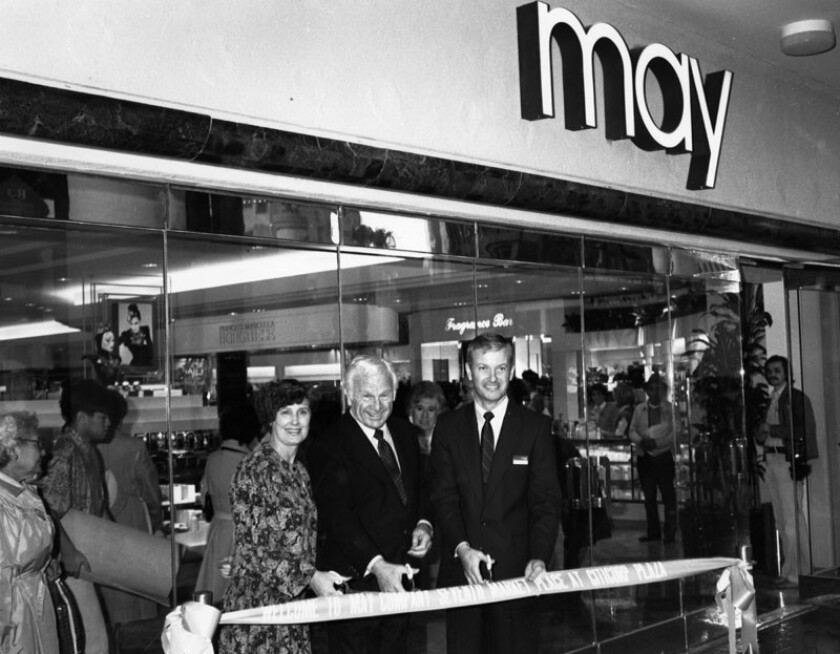The May Co. opens at the Seventh Market Place in downtown L.A. in 1981