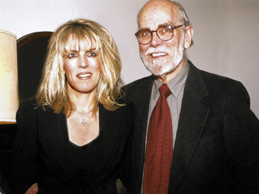 """Miller Williams, with his daughter, Lucinda. Lucinda Williams last year put her father's poem """"Compassion"""" to music as the lead cut on her latest album."""