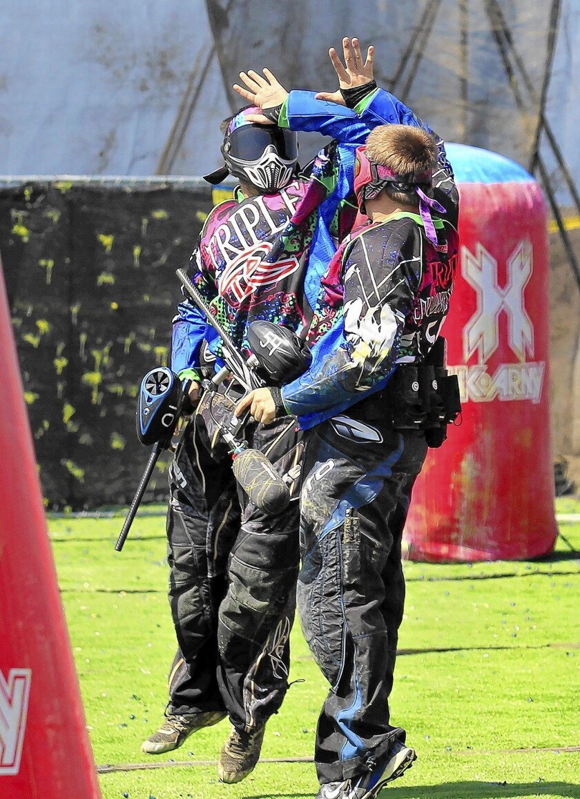 Paintball Tournament Smaller But Still A Blast Los Angeles Times