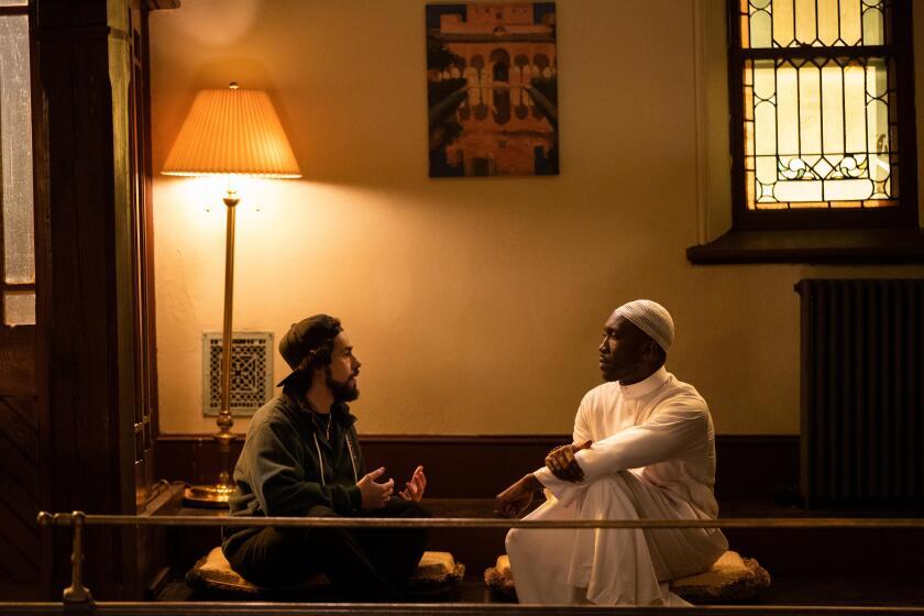 """Ramy (Ramy Youssef) and Sheikh Ali Malik (Mahershala Ali) in Season 2 of """"Ramy."""""""